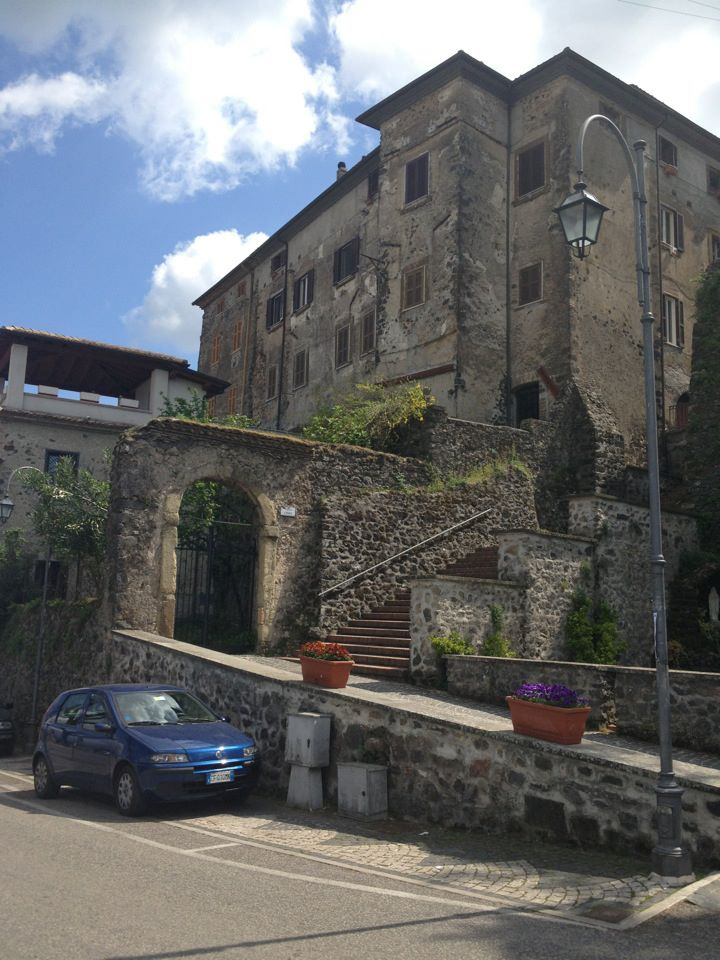Up we go to the Municipality Building. Looking up ancestors in Pofi, Italy