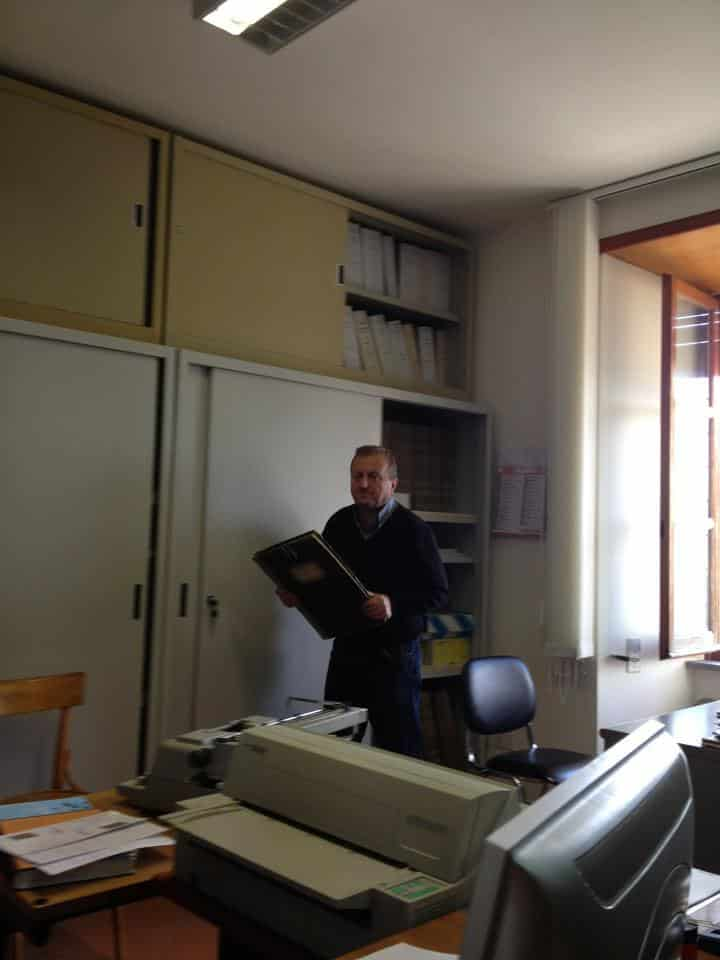 he finds the book to search for my Italian Ancestors from the Pofi Italy