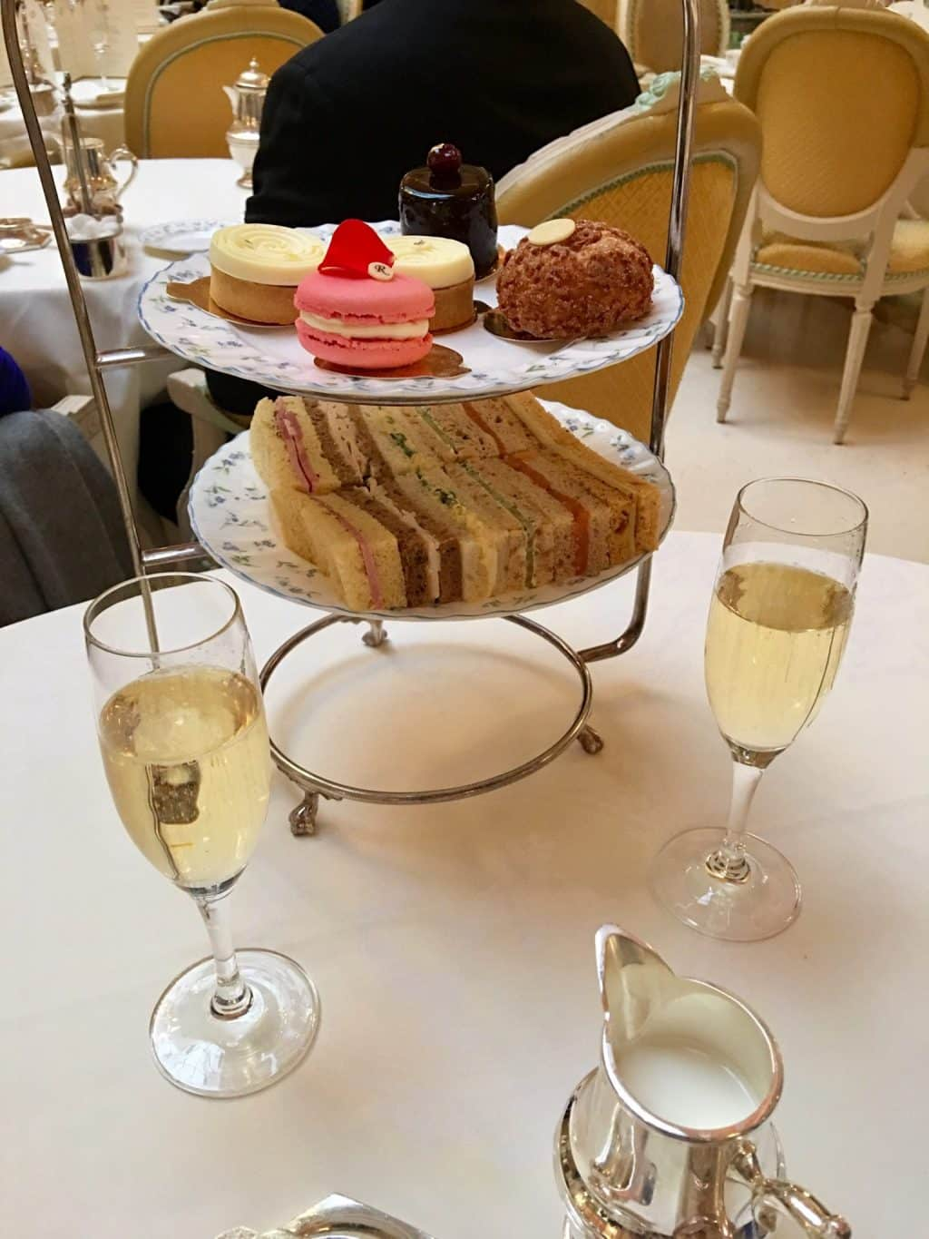 champagne and tea at the Ritz