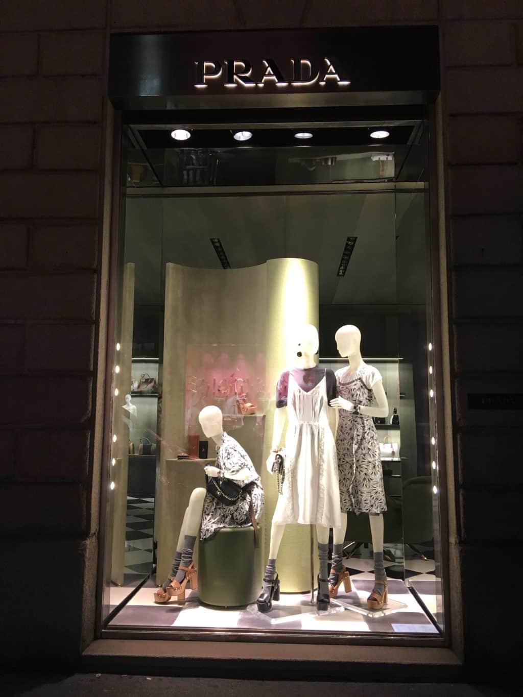Shopping at Night in Milan