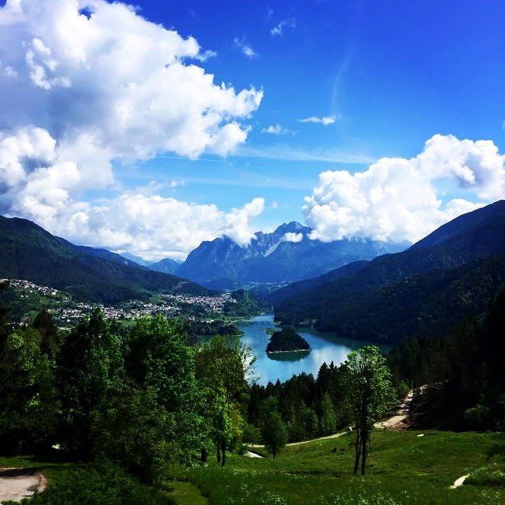 Pieve di Cadore, Veneto, Italy with a lake view