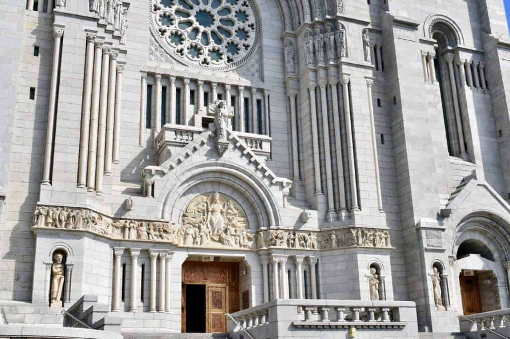 Front entry of The Shrine of Sainte-Anne-de-Beaupré