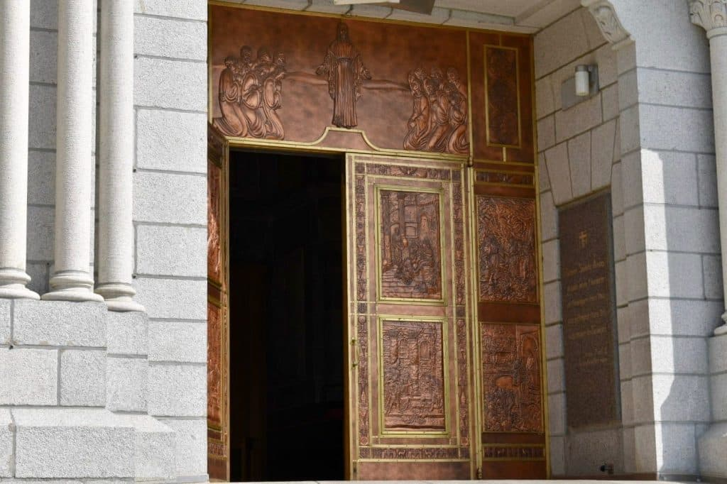 Entry doors at The Shrine of Sainte-Anne-de-Beaupré