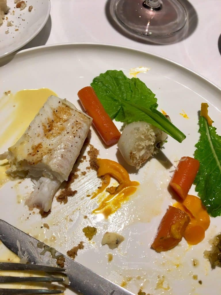 fish dinner at Antoine Paris France