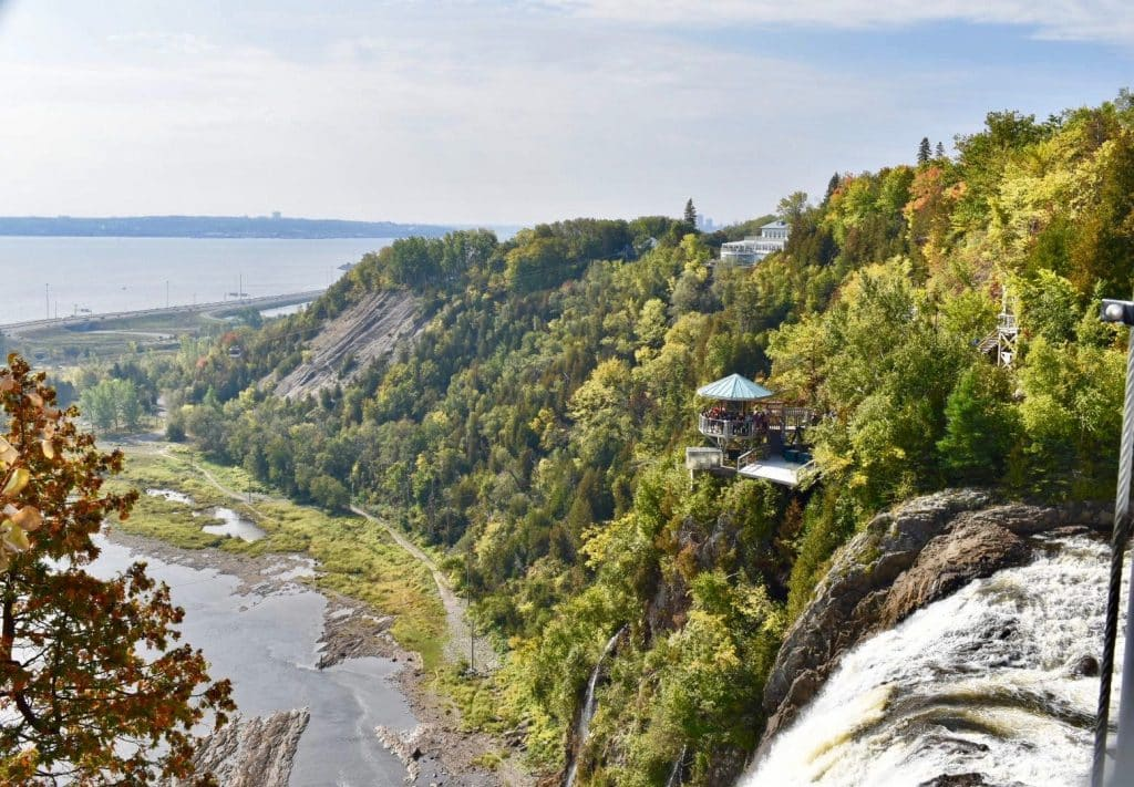 Montmorency Falls view from top