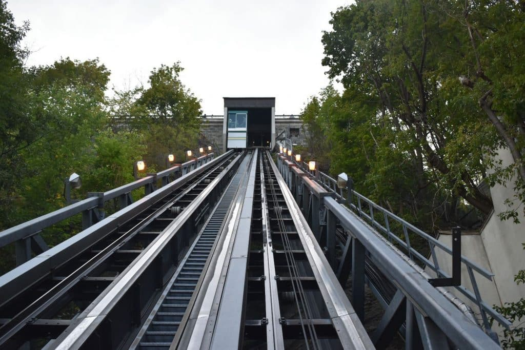 Funicular to Old Quebec City