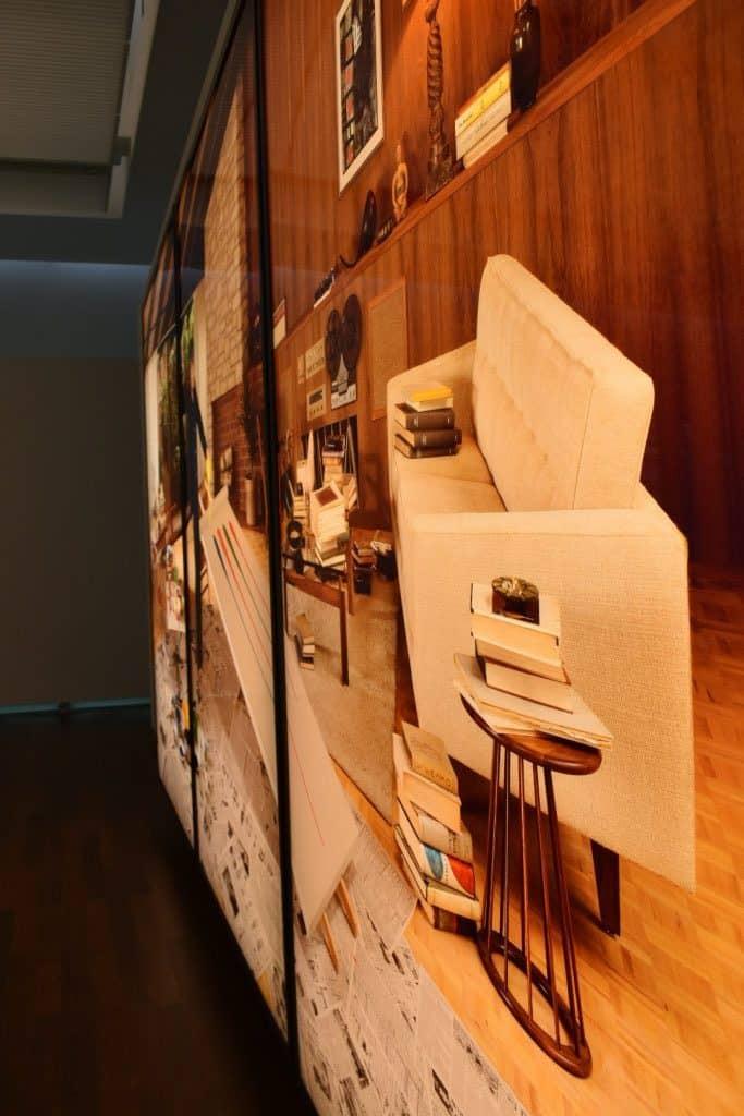 Rodney Graham art light box up close