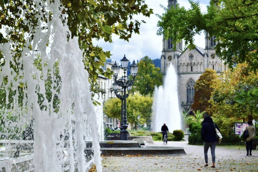 Baden Baden's city fountain