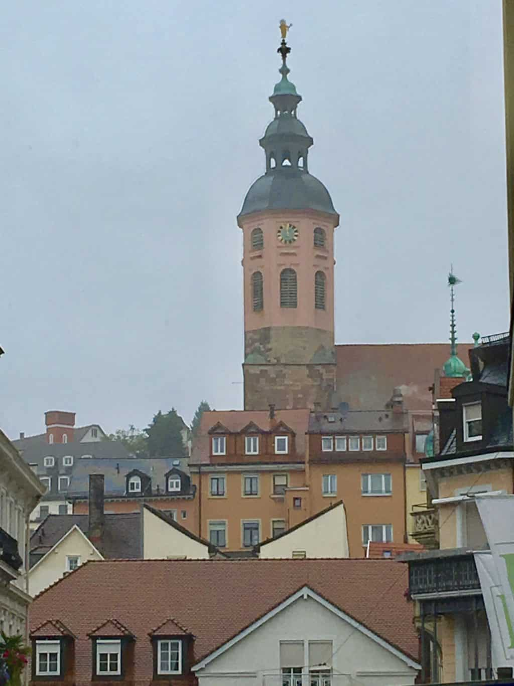 City view in Baden Baden with Collegiate Church