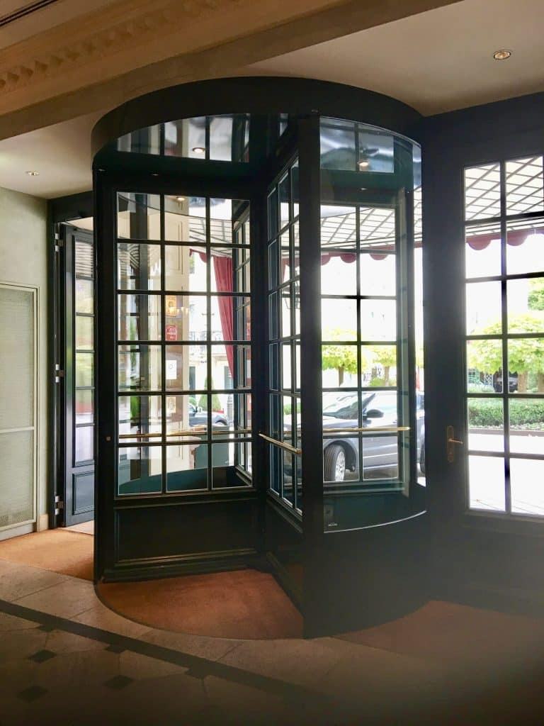 Swing circle door into Brenners Park Hotel & Spa