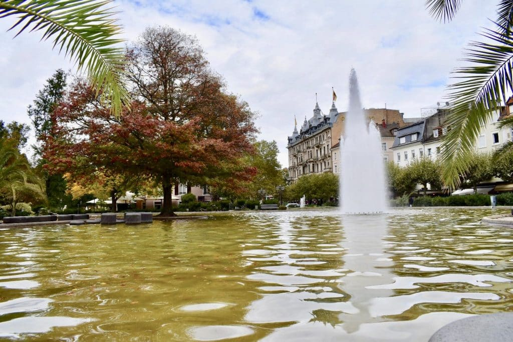 fountain in the city fo Baden Baden Germany
