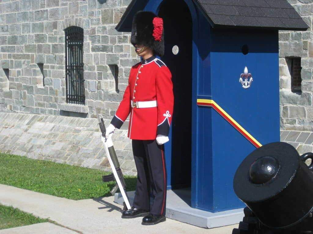 Guard at Citadel Quebec City