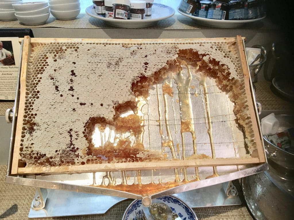 Brenners Park-Hotel & Spa's Honeycomb on buffet