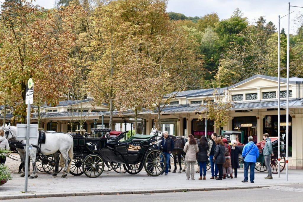 Horse carriage ride area in Baden Baden