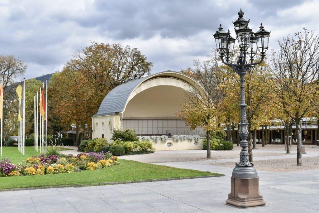 Outside theatre in Baden Baden