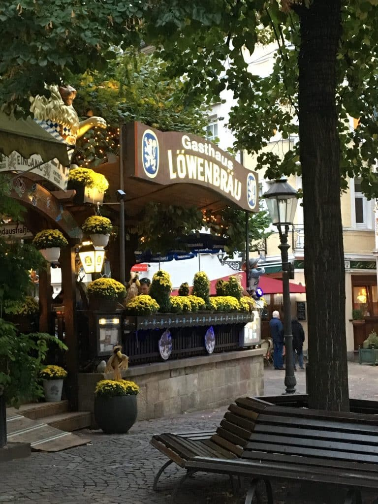 Restaurant in Baden Baden, flowers