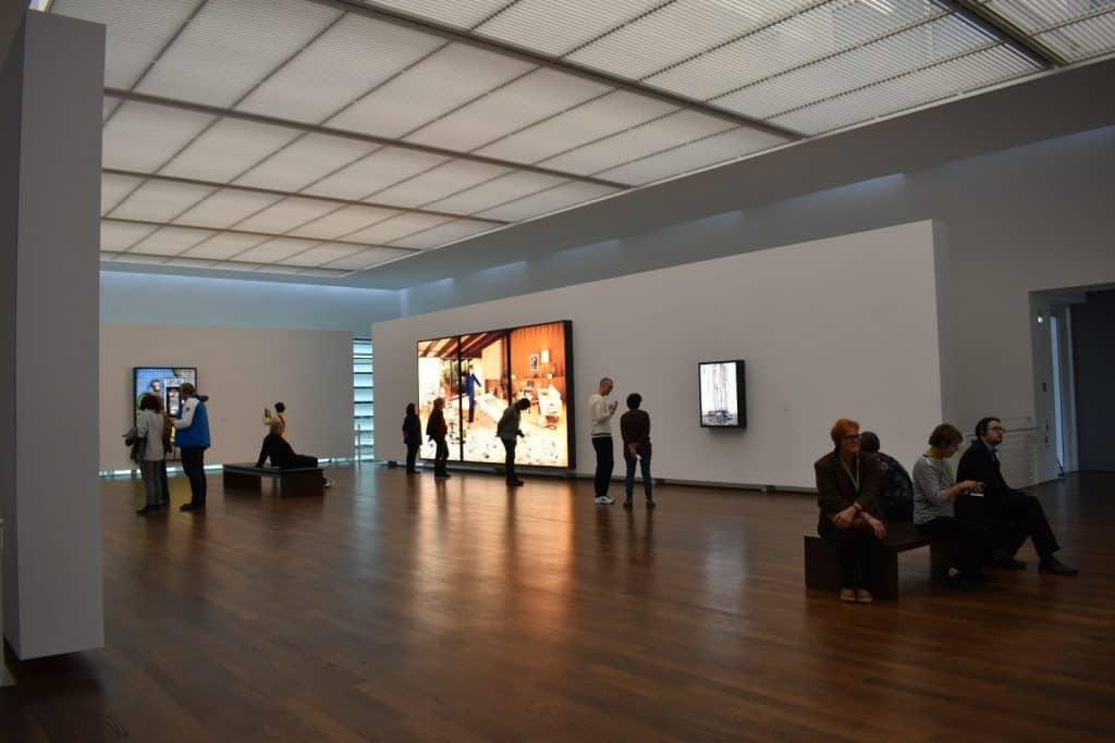View of Freida Bruda museum inside with Lightbox