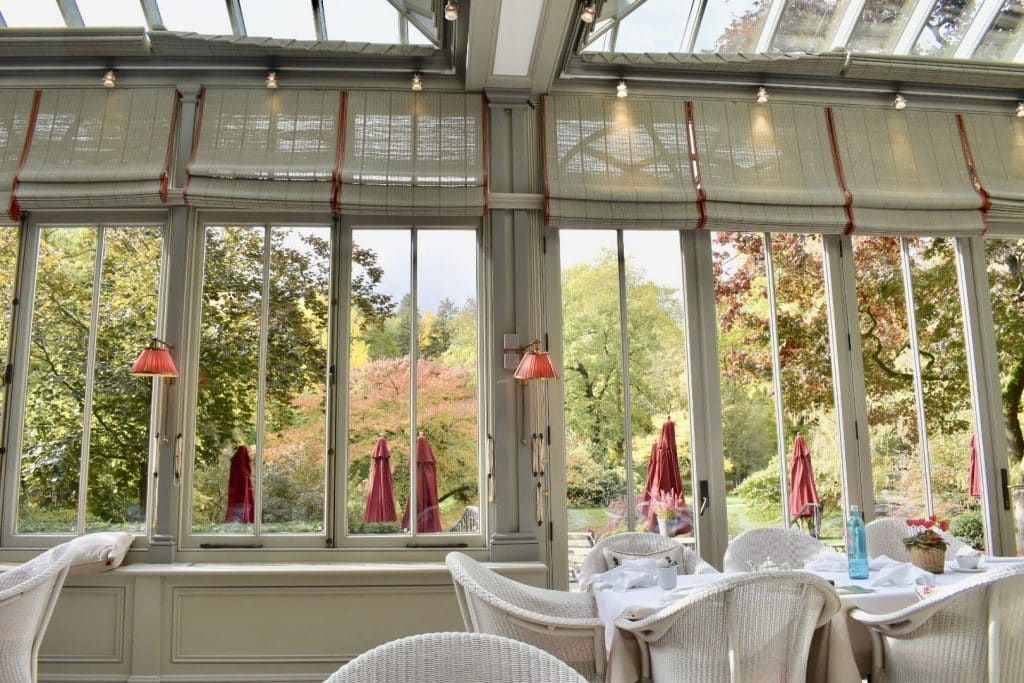 Brenners Park-Hotel & Spa Wintergarten lunch with a view