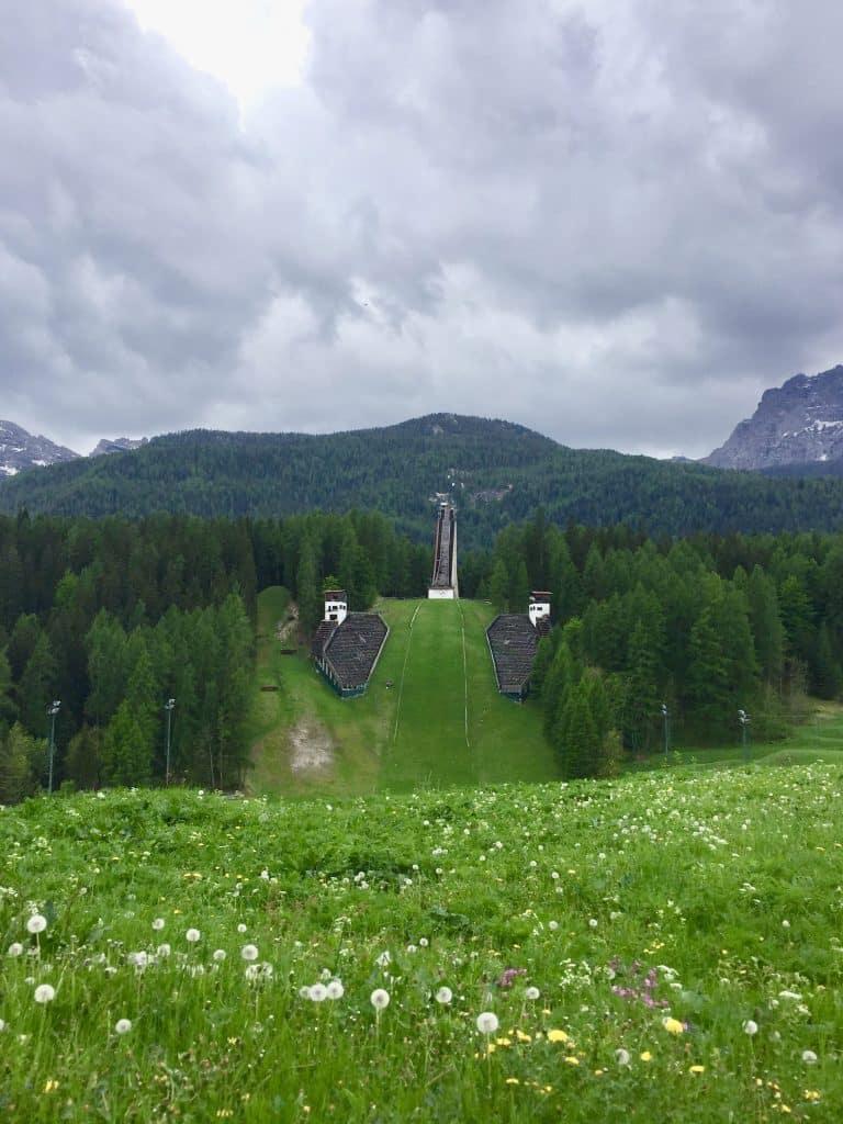 1956 Olympics in Dolomites Italy