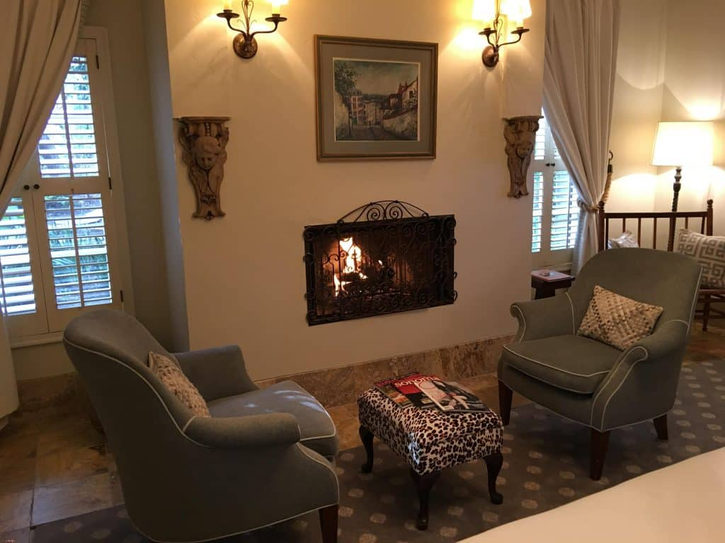 Suite with fireplace at at Kenwood Inn and Spa
