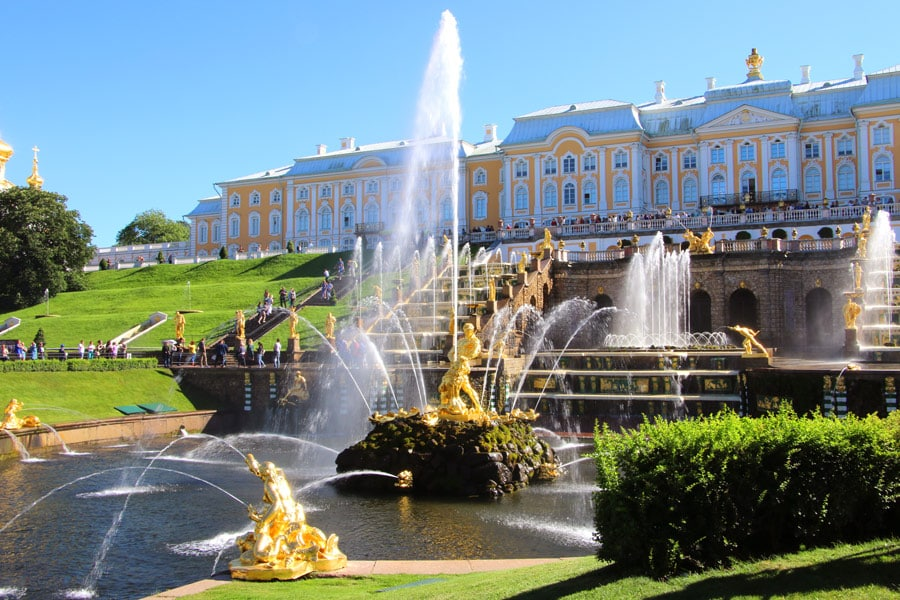 Grand Cascade Fountain, Peterhof St. Petersburg Russia