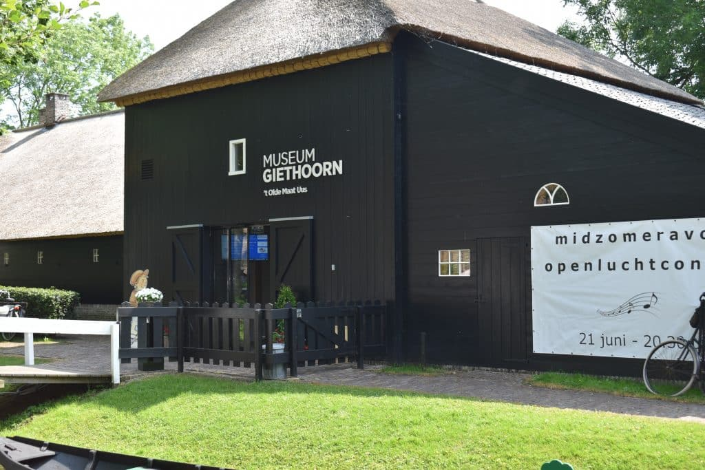 Outside the Giethoorn Netherlands Museum