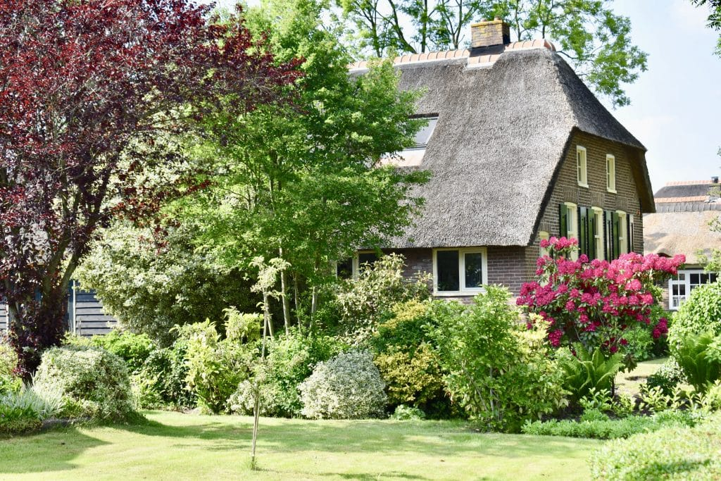 A thatched roof home with beautiful garden in the Netherlands