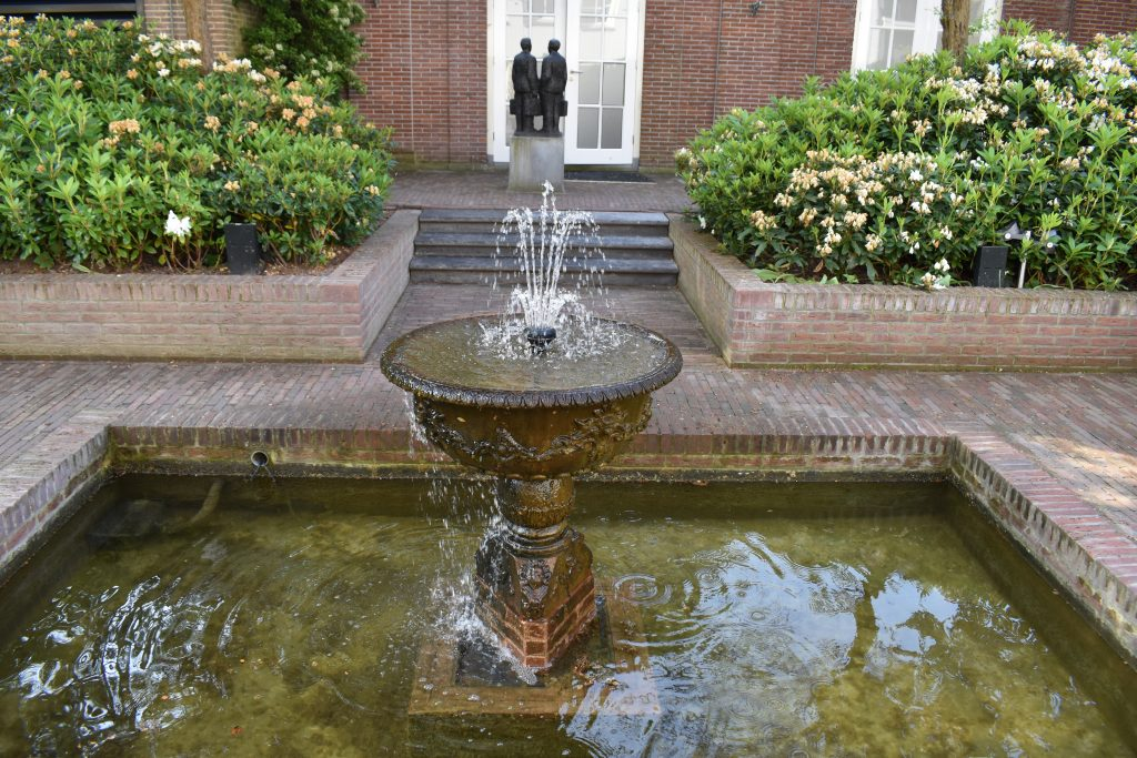 Beautiful garden fountain of the Waldorf Astoria Amsterdam