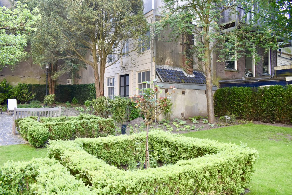 Beautiful garden of the Waldorf Astoria Amsterdam