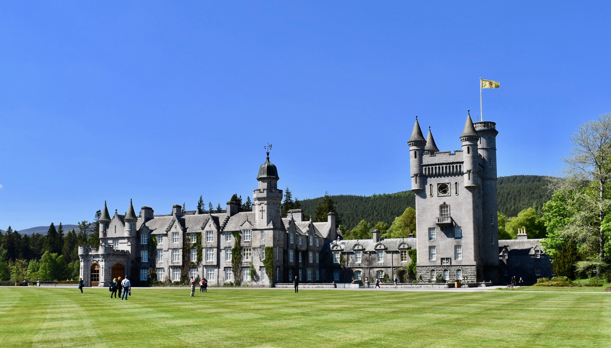 Outside of Balmoral Castle in Scotland- Travel By A Sherrie Affair