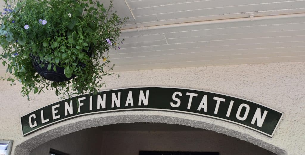 The Glenfinnan station sign