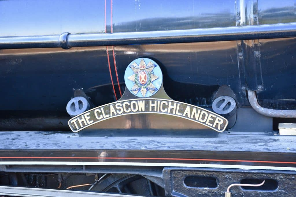 The clascow highlander train sign