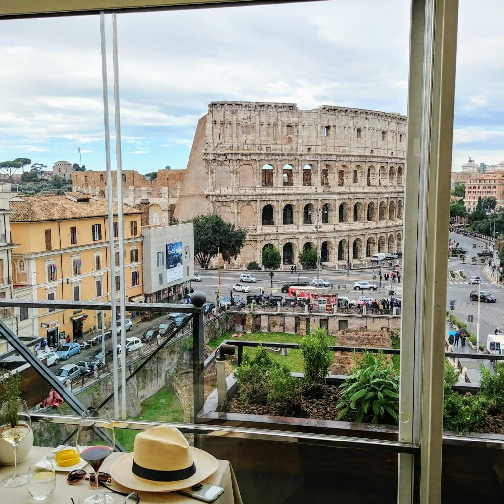 View from Romes Michelin Star Restaurant Aroma