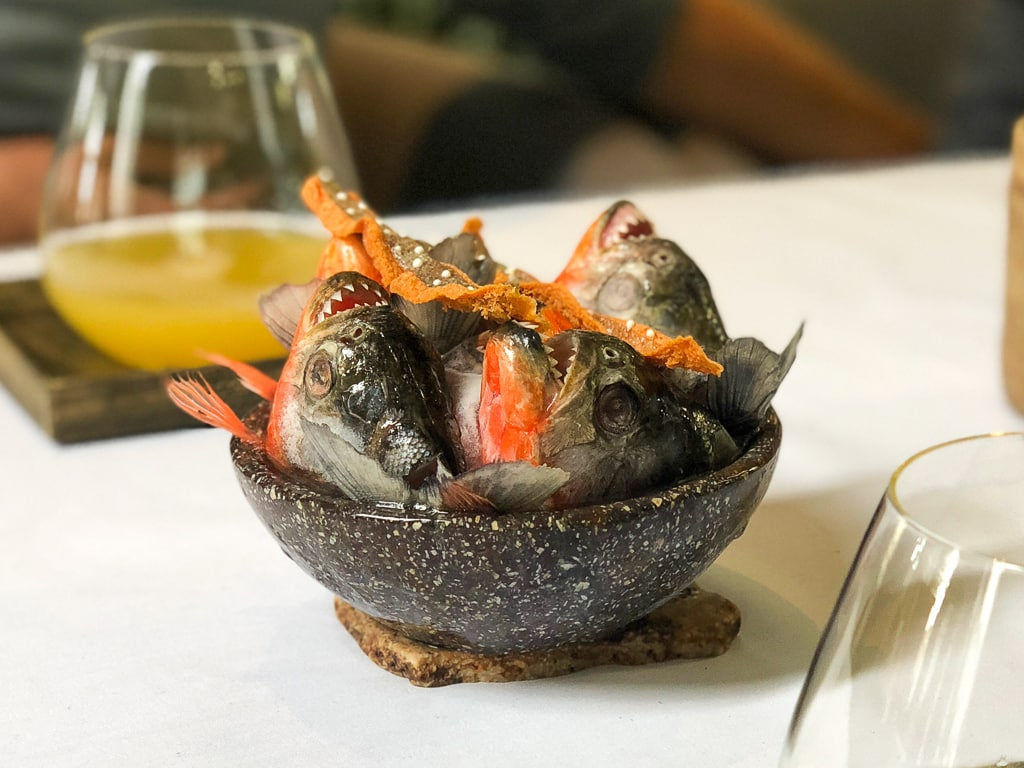 Central in Lima dish with fish heads