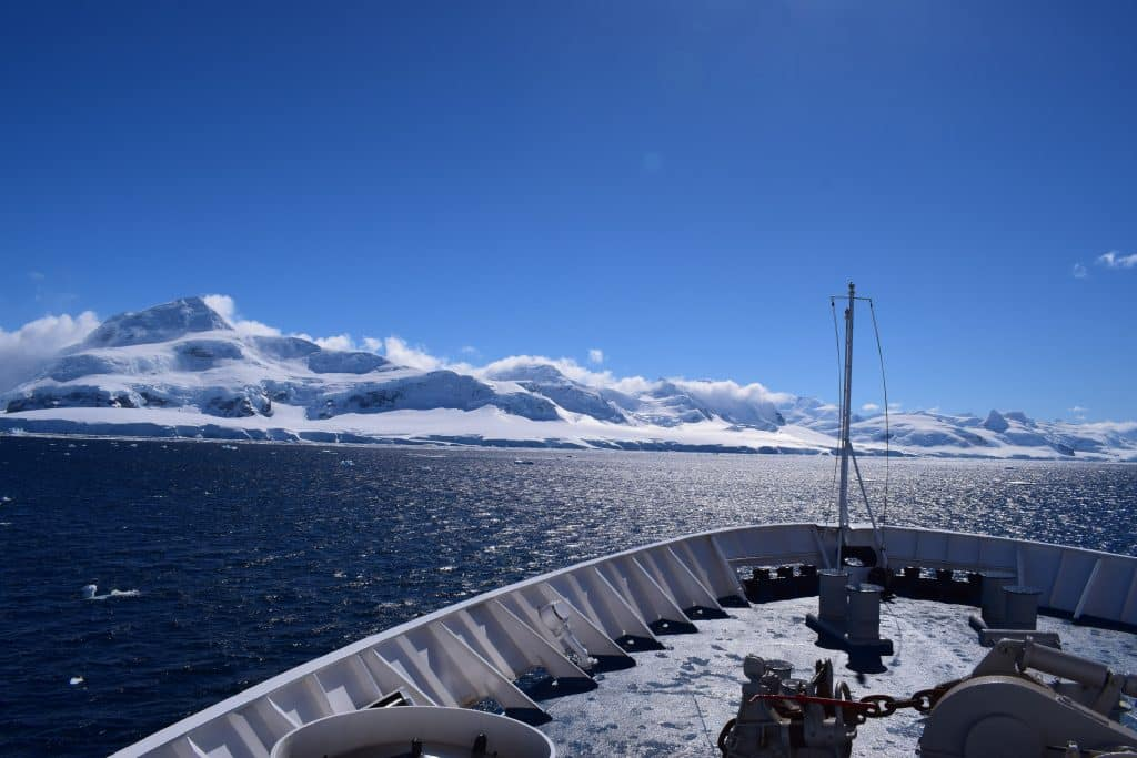 Luxury in the Antartica on a cruise ship