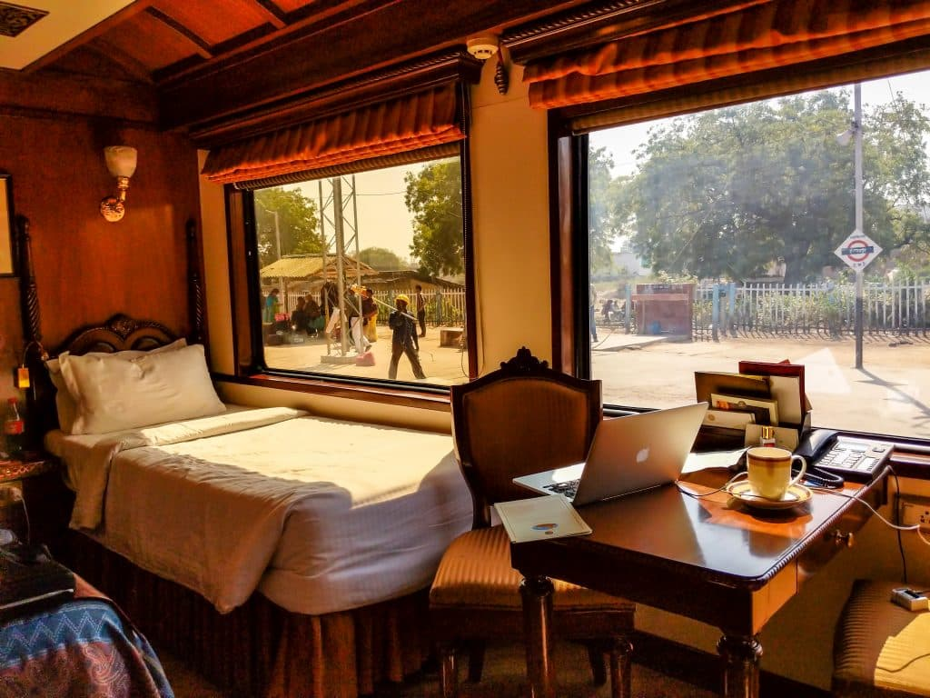 Travel in Luxury on a train in India