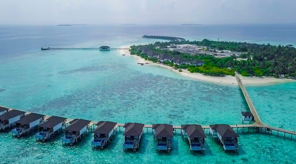 Maldives luxury resort on the water