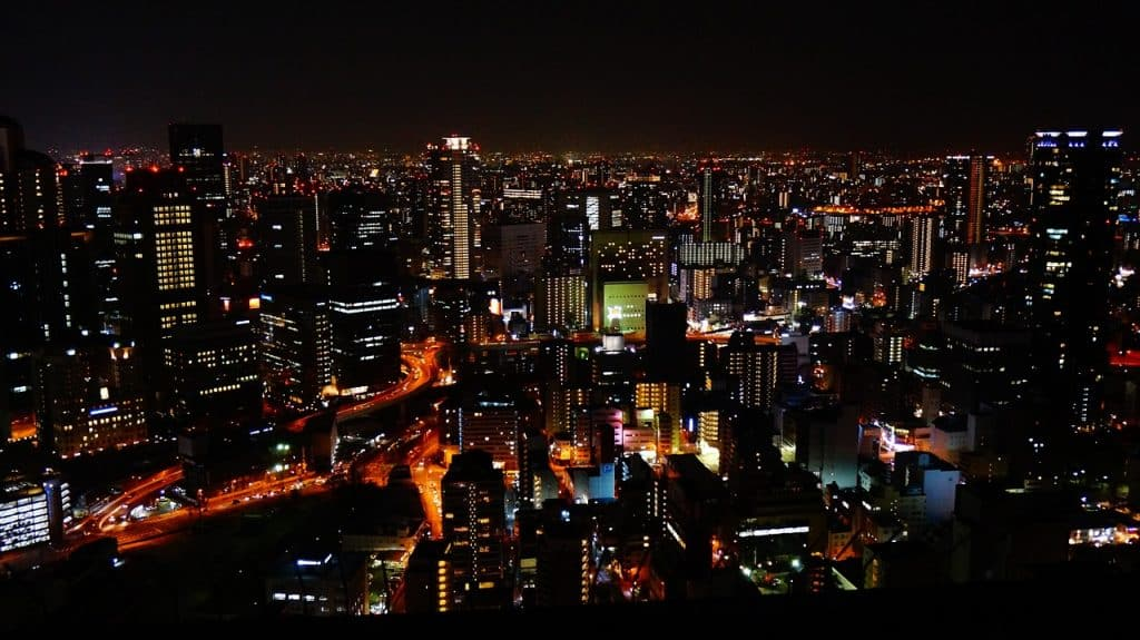 Night View of Osaka