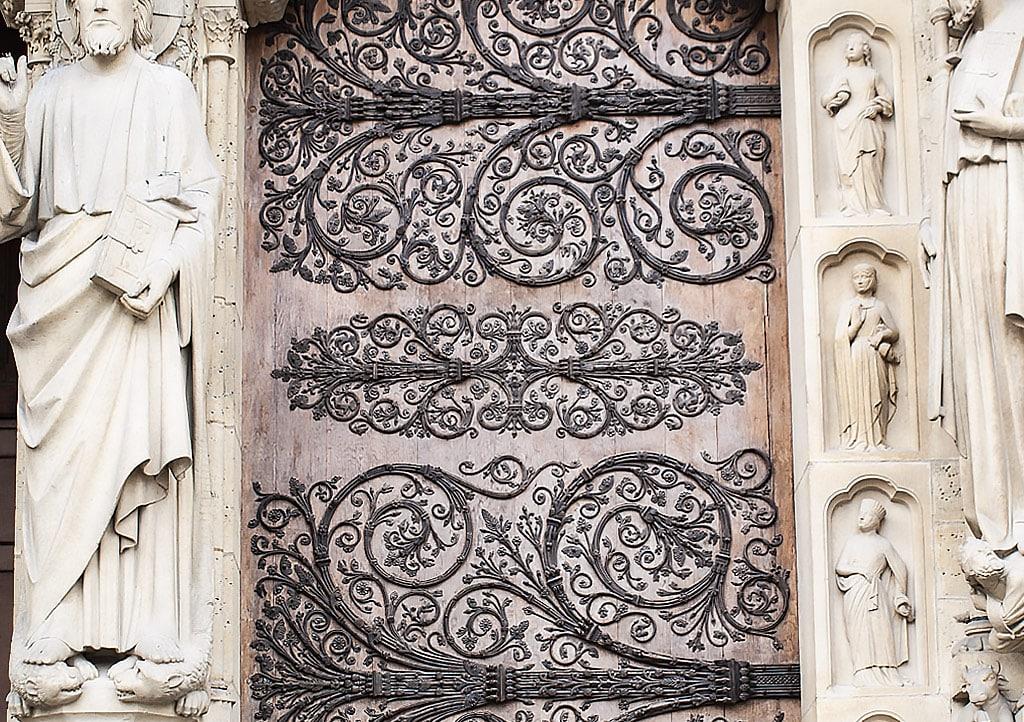 Notre Dame doors in Paris