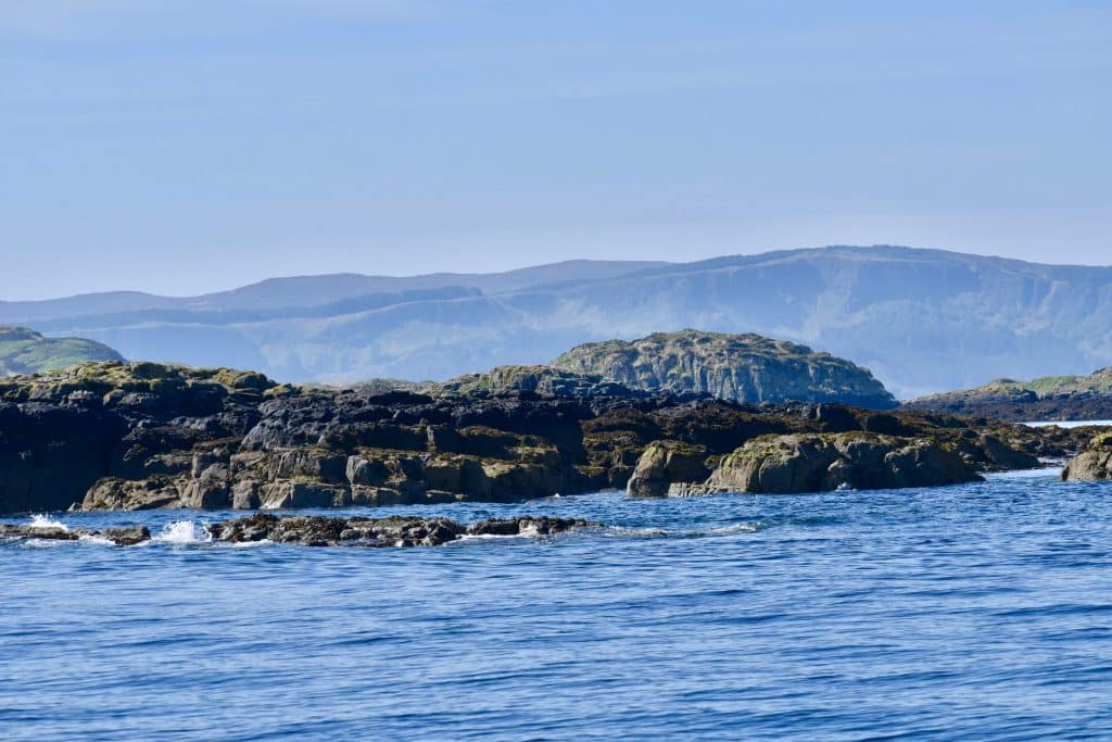Small islands off the coast of Isle of Skye